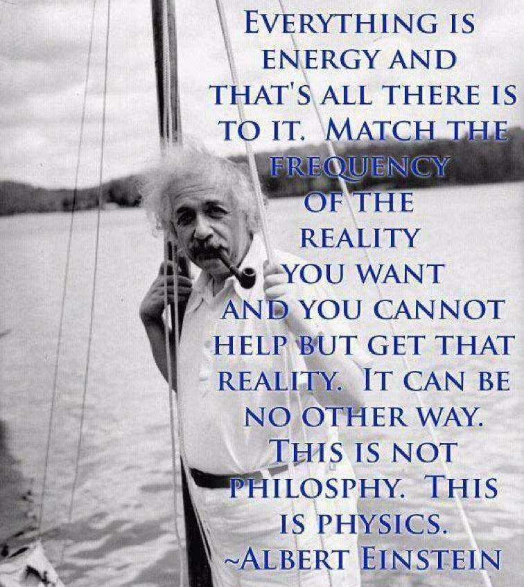 Einstien quote on Energy